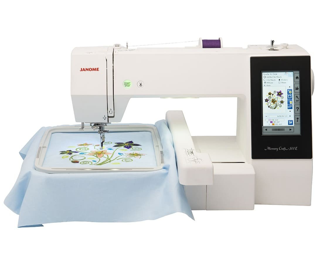 BORDADORA JANOME MC500 y SOFTWARE DIGITIZER JR